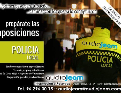 Oposiciones de Policia Local en Gandia (Valencia)
