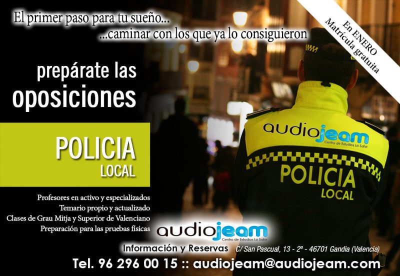 OPOSICIONES POLICIA LOCAL GANDIA VALENCIA