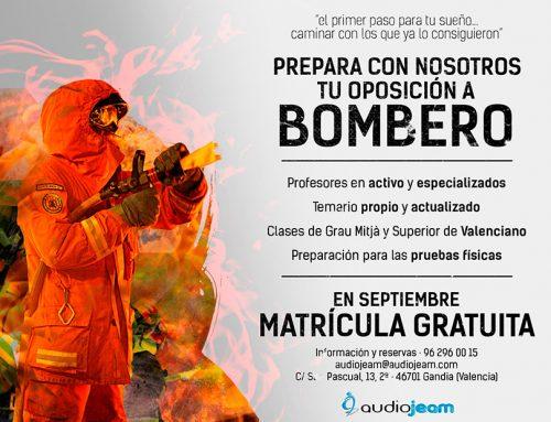 29 Plazas de Bombero para el consorcio de Valencia.