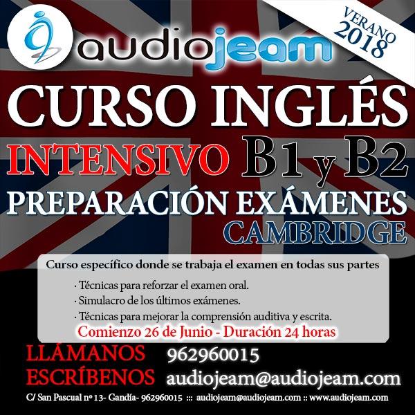 CURSO INTENSIVO INGLES - PREPARACIÓN EXÁMENES B1 y B2